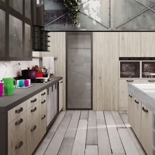 Кухня лофт №17