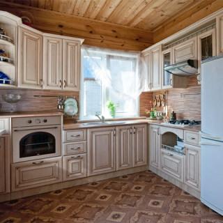 Кухонный гарнитур с патиной №10