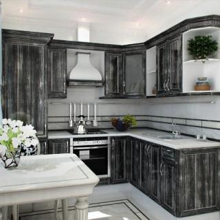 Кухонный гарнитур с патиной №12