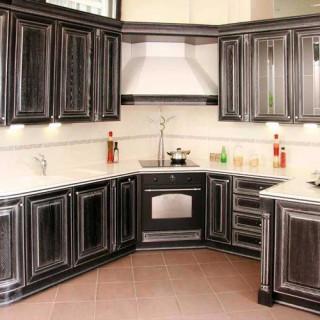 Кухонный гарнитур с патиной №14