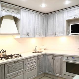 Кухонный гарнитур с патиной №16