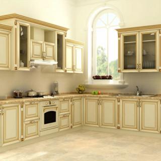 Кухонный гарнитур с патиной №17