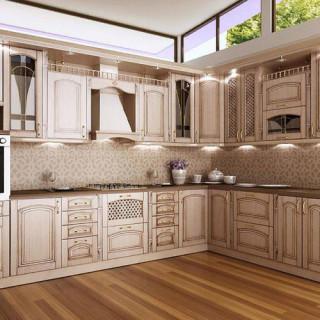 Кухонный гарнитур с патиной №19