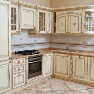 Кухонный гарнитур с патиной №1