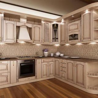 Кухонный гарнитур с патиной №20