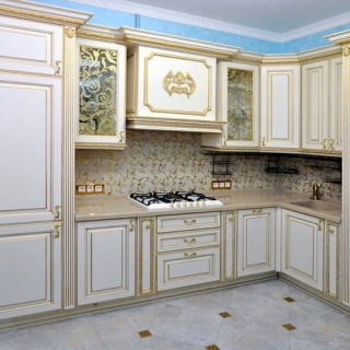 Кухонный гарнитур с патиной №29
