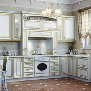 Кухонный гарнитур с патиной №2