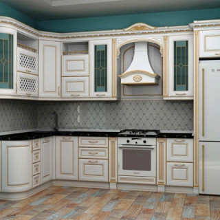 Кухонный гарнитур с патиной №31