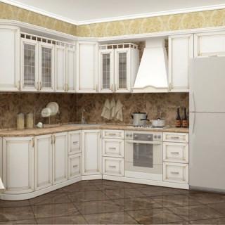 Кухонный гарнитур с патиной №34