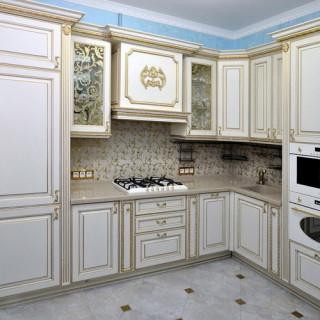 Кухонный гарнитур с патиной №3